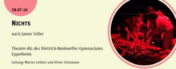 Theater-AG des Dietrich-Bonhoeffer-Gymnasiums Eppelheim begeistert im Zwinger