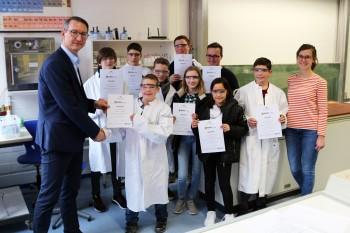 Das Geheimnis der Kartoffel: DBG-Schüler nahmen erfolgreich am Chemie-Wettbewerb teil